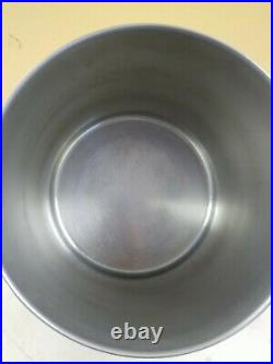 Vintage Revere Ware 12 Qt Stock Pot Pan Stainless Steel Copper Bottom