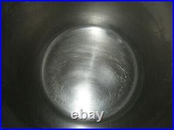 Vintage Revere Ware 12qt Stock Pot & Lid Stainless Steel w Copper Clad Bottom