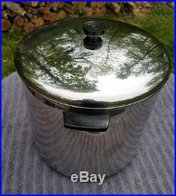 Vintage Revere Ware 20 Qt. Copper Clad Stainless Steel Stock Pot Rome Ny