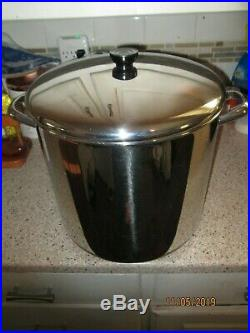 Vintage Revere Ware 20 Quart Stock Pot. Comerical Use. Stainless Stell Copper