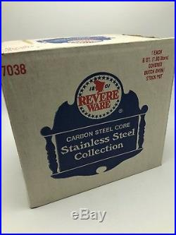 Vintage Revere Ware Dutch Oven Stock Pot 8 Qt 7038 Stainless Steel NEW USA