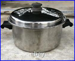 Vintage SALADMASTER Stainless Steel Tri-Clad Stock Pot, Made In USA, 11X5