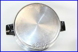 Vollrath Queens Choice 9 Piece 304 Stainless Tri Ply USA Made Vintage Pots Pans