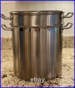 WEAR-EVER 12 Qt. Stainless Steel Stockpot Pasta Cooker & Steamer 4 Piece Set