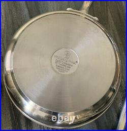 WOLFGANG PUCK CAFE COLLECTION COOKWARE SET of 7 Stainless Steel