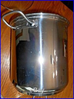 Williams-Sonoma 12 Quart 18/10 Stainless Steel Stock Pot Steamer 4 Piece Set