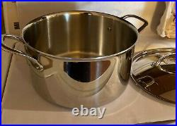 Williams Sonoma Hestan 8 Quart Stockpot Stainless Steel Thermo Clad withLid