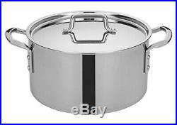 Winco TGSP-12, 11.4l Tri-Gen Tri-Ply Stainless Steel Stock Pot, Commercial