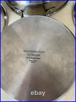 Wolfgang Puck's 7 pc set Stainless steel withLids Pots and Pans Cookware