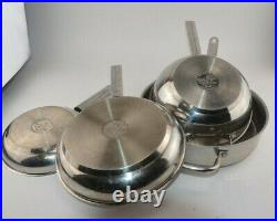Wolfgang Puck's Cafe Collection 4pc Set Stainless Steel Pots and Pans